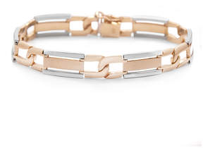 JCPenney FINE JEWELRY Mens 10K Two-Tone Gold Link Bracelet
