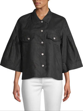 Gold Hawk Women's Linen Wide Sleeve Jacket