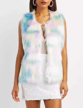 Charlotte Russe Faux Fur Vest