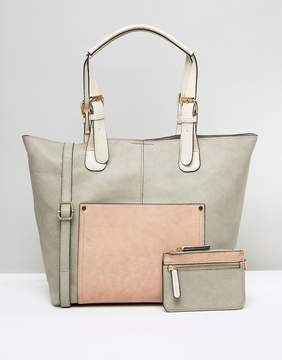 Oasis Buckle Strap Tote Bag And Purse