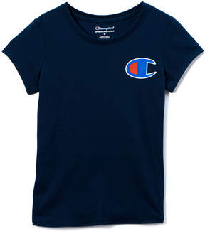 Champion Navy C Patch Tee - Girls