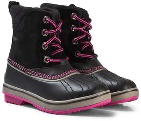 Sorel Black Youth Slimpack Lace Boots