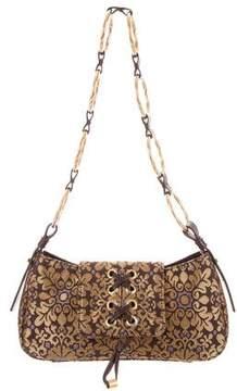 Saint Laurent Jacquard Lace-Up Bag