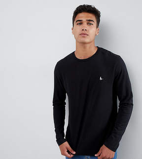 Jack Wills Long Sleeve Logo T-Shirt In Black