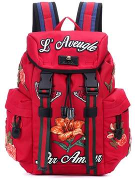 Gucci Appliquéd backpack - RED - STYLE