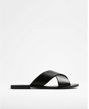 Express crisscross slide sandals