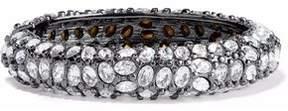 Kenneth Jay Lane Gunmetal-Tone Crystal Bracelet