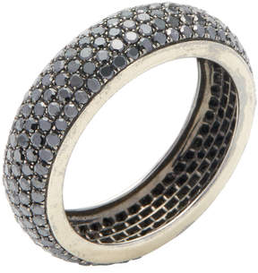 Artisan Women's 14K Black Gold & 1.85 Total Ct. Black Diamond Eternity Band Ring