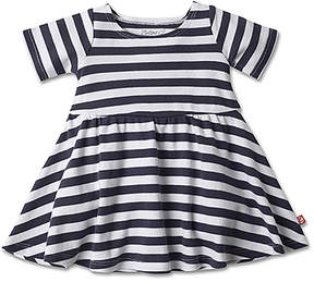 Zutano Navy & White Stripe Forever A-Line Dress - Infant
