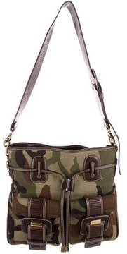 Michael Kors Camouflage Messenger Bag - GREEN - STYLE