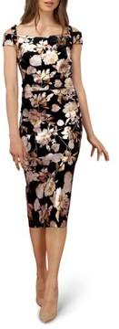 ECI Women's Cold Shoulder Sheath Dress