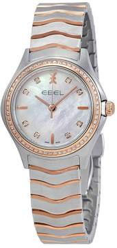 Ebel Wave White Mother Of Pearl Ladies Two Tone Watch