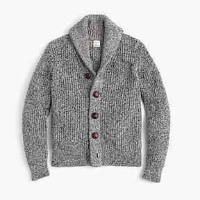 J.Crew Boys' marled cotton shawl-collar cardigan sweater