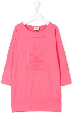Armani Junior raised logo dress
