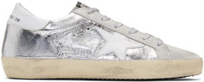 Golden Goose Deluxe Brand Silver and Grey Superstar Sneakers