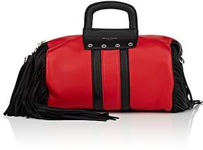 Sonia Rykiel WOMEN'S GYM SMALL FRINGED LEATHER DUFFEL BAG