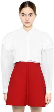 DELPOZO Organza & Cotton Poplin Shirt