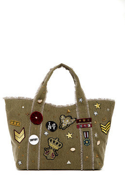 Steve Madden Grady Patched Canvas Tote