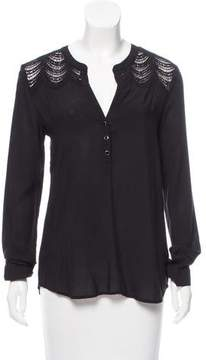 Ella Moss Guipure Lace Accented Long Sleeve Top