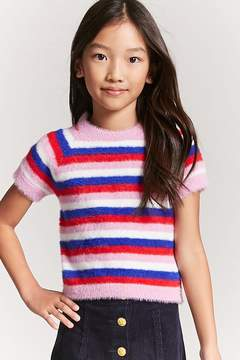 Forever 21 Girls Fuzzy Knit Tee (Kids)