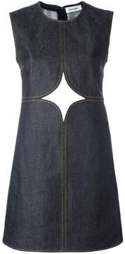 Courreges cut-off detailing denim dress