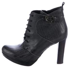 Henry Beguelin Leather Lace-Up Ankle Boots