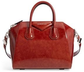Givenchy Small Antigona Glazed Leather Satchel - Brown
