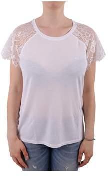 Sun 68 Women's White Cotton T-shirt.
