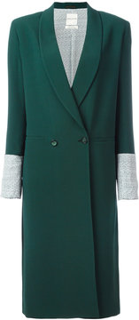 Each X Other contrast cuffs double-breasted coat