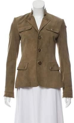 Ralph Lauren Suede Button-Up Jacket