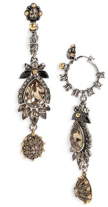 Women's Alexander Mcqueen Charm Drop Earrings $975 thestylecure.com