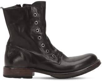Moma Leather Boots With Eyelets