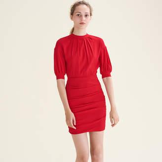Maje Draped dual-material dress