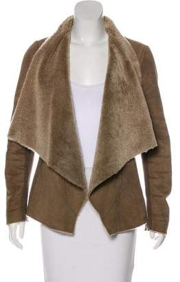 Vince Shearling Draped Jacket