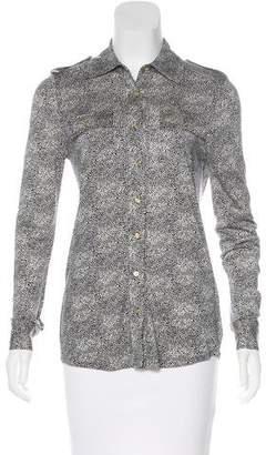 Tory Burch Silk Button-Up Top