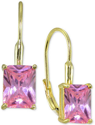 Giani Bernini Square Crystal Drop Earrings in 18k Gold-Plated Sterling Silver, Created for Macy's