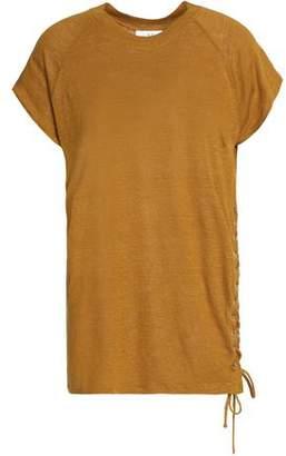 IRO Lace-Up Linen T-Shirt