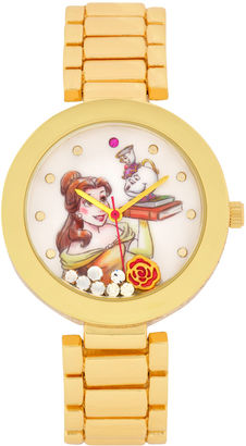 DISNEY Disney Beauty and the Beast Womens Gold Tone Bracelet Watch-Pn2076jc $40 thestylecure.com