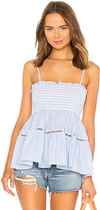 Jonathan Simkhai Striped Tiered Tank
