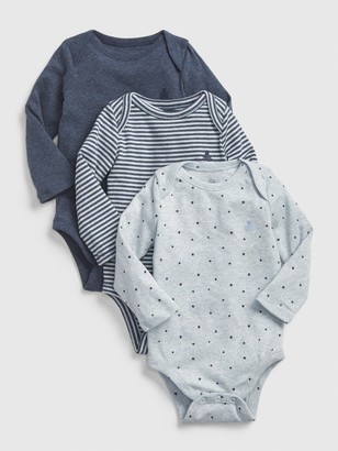 Gap Baby First Favorite Long Sleeve Bodysuit (3-Pack)