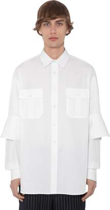 J.W.Anderson Cotton Poplin Shirt W/ Double Cuffs