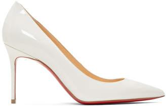 Christian Louboutin White Patent Kate Heels