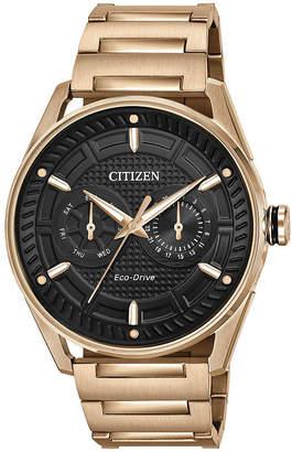 DRIVE FROM CITIZEN ECO-DRIVE Drive from Citizen Mens Rose Goldtone Bracelet Watch-Bu4023-54e