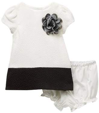 Pippa Pastourelle by and Julie Short Sleeve Color Block A-Line Dress Set (Baby Girls 0-9M)