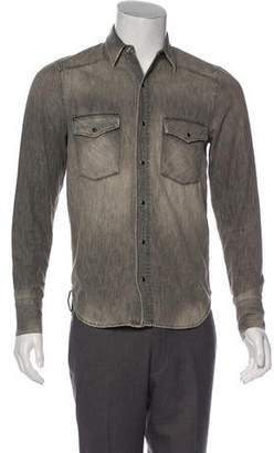 John Elliott Woven Button-Up Shirt