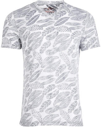 American Rag Men's V-Neck Leaf T-Shirt