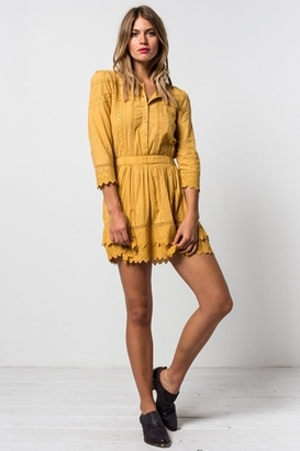 Tularosa Belmont Dress in Marigold $169 thestylecure.com