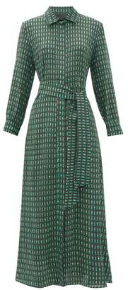 Max Mara Samanta Shirtdress - Womens - Dark Green Multi