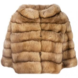 Fendi Brown Fur Coats