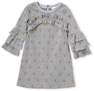 Hannah Banana Girls 4-6x) Houndstooth Ruffle Dress